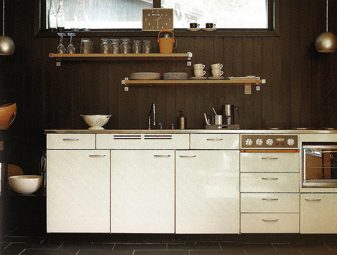 natural wood kitchen walls