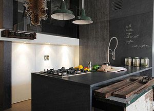 rustic kitchen in the west village