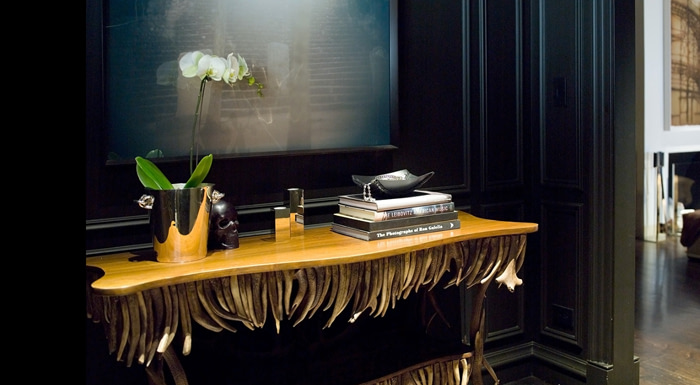elegant dark interior