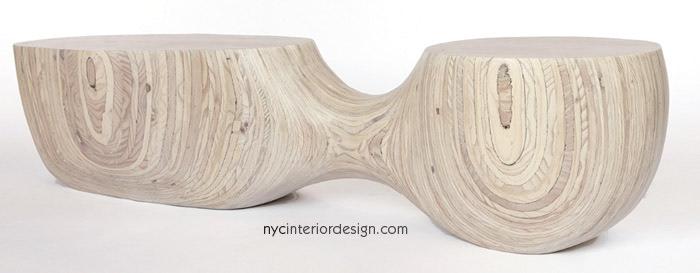 Natural Wood Bench Seating