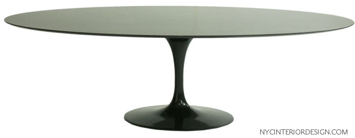 high gloss black lacquer dining table