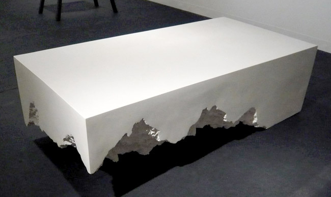 marble coffee table by Snarkitecture