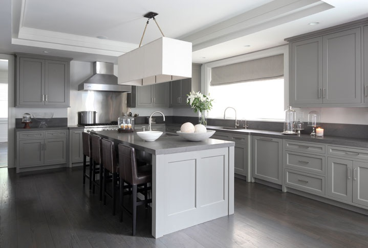 warm medium gray kitchen