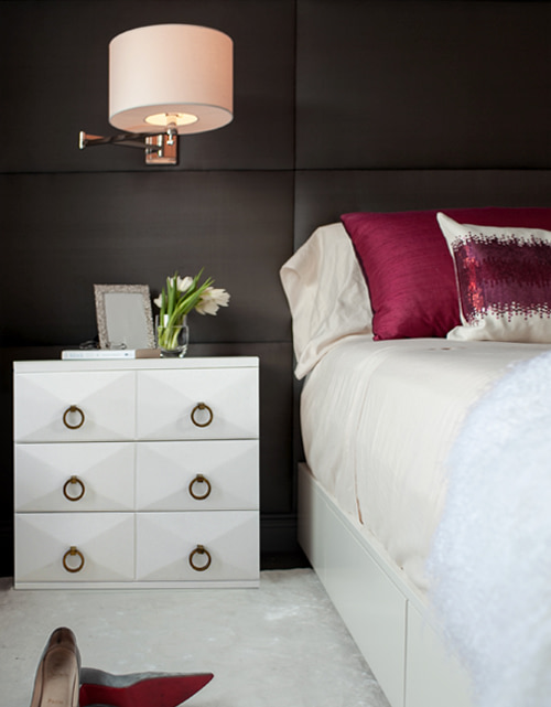 bedroom design - bedside wall sconces lights