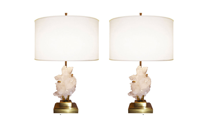 Willy Daro Bronze table lamps