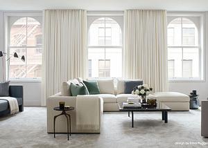 nyc interior design _tribeca penthouse_living room by Erika Flugger