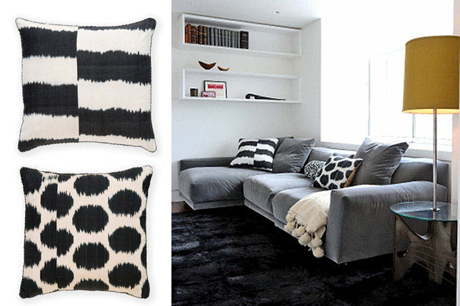 ikat accent pillows madeline weinrib