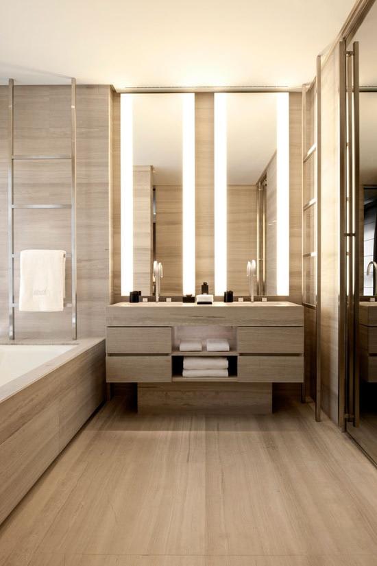 natural stone bathroom - Armani Hotel