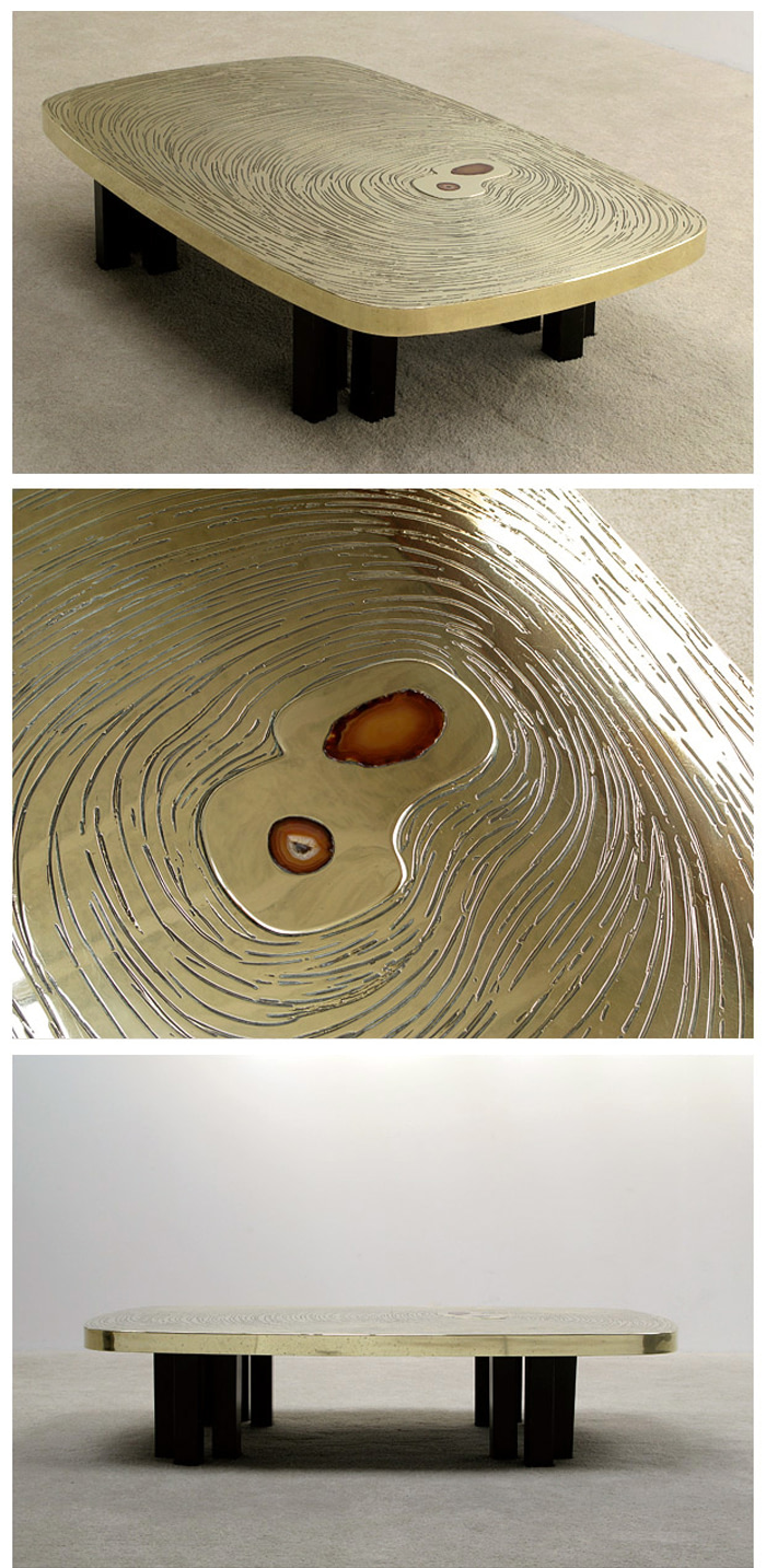 ETCHED BRONZE COFFEE TABLE