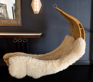 fuzzy lounge chair