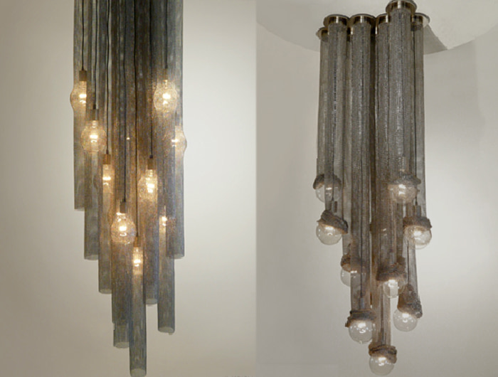 multipenant metal chandelier